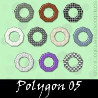 Free polygon Embellishments, Scrapbooking Printables Download, Printables, Kit