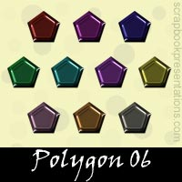 Free Polygon Embellishments, Scrapbook Downloads, Printables, Kit