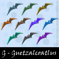 Free Quetzalcoatlus Embellishments, Scrapbook Downloads, Printables, Kit