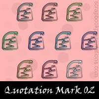 Free Quotation Mark Embellishments, Scrapbook Downloads, Printables, Kit