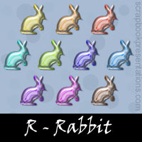 Free Rabbit Embellishments, Scrapbook Downloads, Printables, Kit