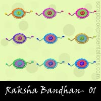 Free Raksha Bandhan Embellishments, Scrapbook Downloads, Printables, Kit