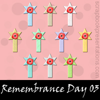 Free Remembrance Day SnagIt Stamps, Scrapbooking Printables Download