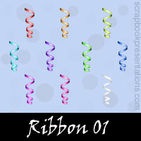 Free Ribbon SnagIt Stamps, Scrapbooking Printables Download