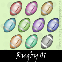 Free Rugby SnagIt Stamps, Scrapbooking Printables Download