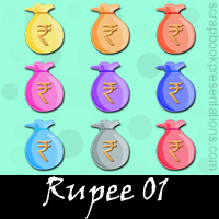 Free Rupee SnagIt Stamps, Scrapbooking Printables Download