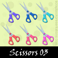 Free Scissors SnagIt Stamps, Scrapbooking Printables Download