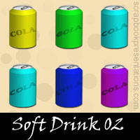 Free Soft Drink SnagIt Stamps, Scrapbooking Printables Download