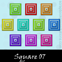 Free Square SnagIt Stamps, Scrapbooking Printables Download