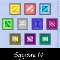 Free Square Embellishments, Scrapbook Downloads, Printables, Kit