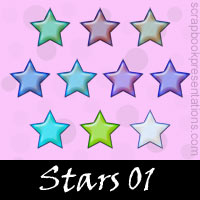Free Star Embellishments, Scrapbook Downloads, Printables, Kit