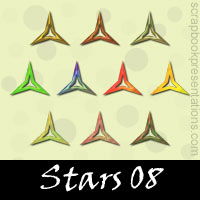 Free Stars SnagIt Stamps, Scrapbooking Printables Download