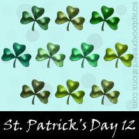 Free St. Patrick's Day Embellishments, Scrapbook Downloads, Printables, Kit