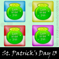 Free St.Patrick's Day SnagIt Stamps, Scrapbooking Printables Download