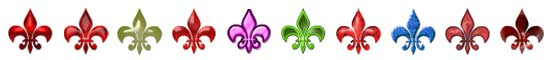 Free Fleur-de-lys Embellishments, Scrapbooking Printables Download