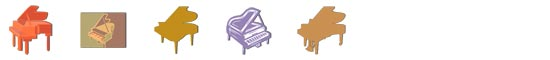 Free Grand Piano SnagIt Stamps, Scrapbooking Printables Download