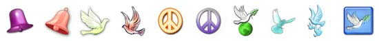 Free Peace SnagIt Stamps, Scrapbooking Printables Download