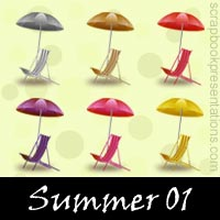 Free Summer Embellishments, Scrapbooking Printables Download