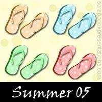 Summer Scrapbook Embellishments