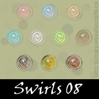 Free Swirls SnagIt Stamps, Scrapbooking Printables Download