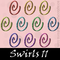 Free Swirl Embellishments, Scrapbook Downloads, Printables, Kit