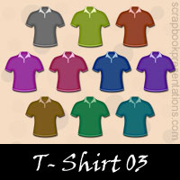 Free T- Shirts Embellishments, Scrapbook Downloads, Printables, Kit