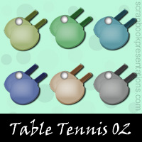 Free Table Tennis Embellishments, Scrapbook Downloads, Printables, Kit