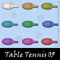 Free Table Tennis SnagIt Stamps, Scrapbooking Printables Download
