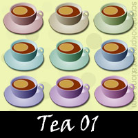 Free Tea Embellishments, Scrapbook Downloads, Printables, Kit