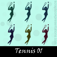 Free Tennis SnagIt Stamps, Scrapbooking Printables Download