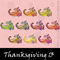Thanksgiving snagit stamps
