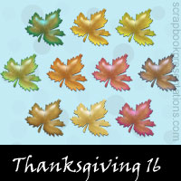 Free Thanksgiving Embellishments, Scrapbook Downloads, Printables, Kit