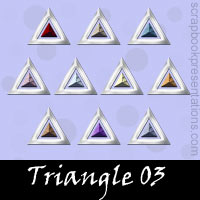 Free Triangle Embellishments, Scrapbook Downloads, Printables, Kit