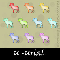 Free Urial Embellishments, Scrapbook Downloads, Printables, Kit