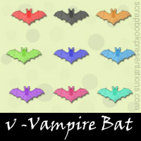 Free Vampire Bat SnagIt Stamps, Scrapbooking Printables Download