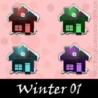 Free Winter SnagIt Stamps, Scrapbooking Printables Download