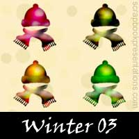 Winter Scrapbook Embellishments