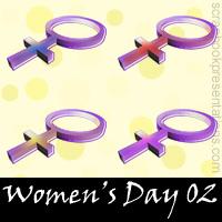 Women's Day Scrapbook Embellishments