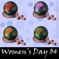 Free Women's Day SnagIt Stamps, Scrapbooking Printables Download