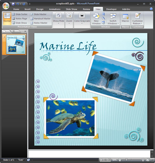 powerpoint digital scrapbook